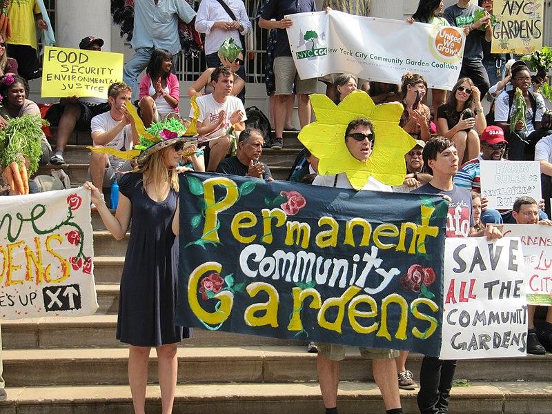 community garden protest