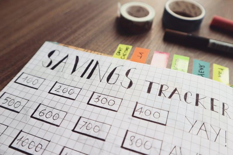 Personal savings budget sheet
